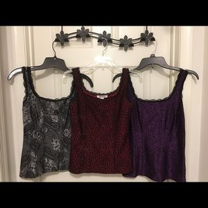3 WHBM Floral Tank Tops - XS